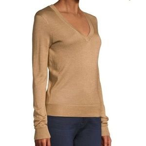 J.Crew Factory Tan v-neck sweater